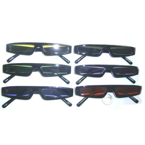 VERY THIN BLACK FRAMES CLOR LENSES SUNGLASSES